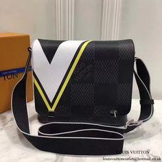 6798c58cf6 Louis Vuitton N44002 District PM Messenger Bag Damier Cobalt Canvas