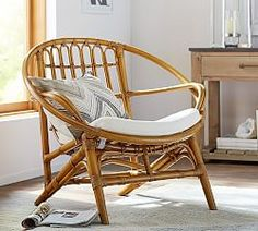 """Seagrass Chairs & Wingback Chairs   Pottery Barn DETAILS Overall: 36"""" wide x 29.5"""" deep x 33"""" high Seat: 14.75"""" high Legs Stretchers: 8"""" high Chair Back: 17.5"""" wide, 20"""" high Maximum Weight Capacity: 300 lb Weight: 20.5 lb"""