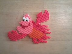 Sebastian the lobster  - The Little Mermaid perler beads by Sara Swope