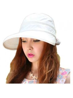 ab2cb56379e Woman s Baseball caps Fashion Ladies Bowknot Dual Purpose Two USES Hat Sun  Visor Summer Beach Hat - White - CH11Y65CRGH. Caps HatsWomen s ...