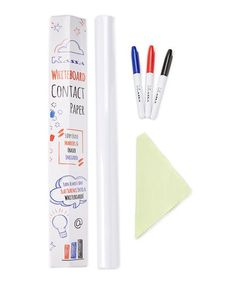 Whiteboard Contact Paper & Marker Set