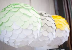 Love these fish scale paper lanterns.