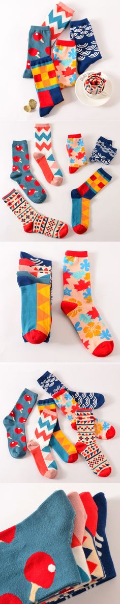 New Fashion Square Pingpong Cartoon Long Socks For Men and Women Novelty Unisex British Style Crew Socks Cotton