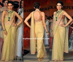 For designer Maheka Mirpuri's collaboration with Ghanasingh jewelers, Karisma Kapoor was the celebrity of choice to walk the runway.