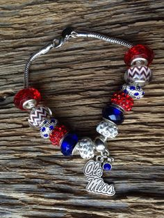 A personal favorite from my Etsy shop https://www.etsy.com/listing/498373578/ole-miss-rebels-upcycled-bracelet-ole