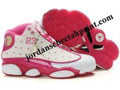 Air Jordan 13 Women Color Shoes White/Pink For Sale