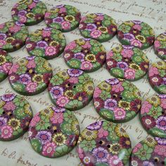 Polymer Clay Buttons, by Polymer Clay Shed by cag_crafts, via Flickr