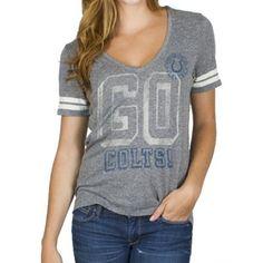 Junk Food Indianapolis Colts Ladies Tailgate V-Neck Tri-Blend T-Shirt - Ash 7876fba26