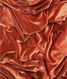 Burnt Orange Stretch Velvet Fabric Sold by the Half Yard, Yard, Sample and Wholesale Orange Aesthetic, Aesthetic Vintage, Orange Wallpaper, Color Test, Under The Lights, Cool Fabric, Fabric Art, Amazon Art, Burnt Orange