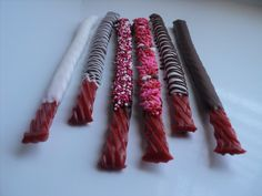 Valentine's Day *Food* - Chocolate Covered Twizzlers