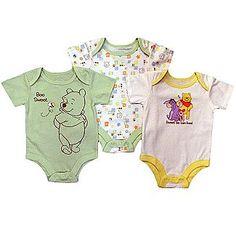 Disney Winnie the Pooh Newborn Bodysuits 3pk Winnie the Pooh Short Sleeve Snap Closure Multicolored - Baby - Baby & Toddler Clothing - Bodysuits