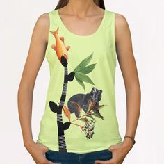 the attempt All Over Print Tanks by junillu