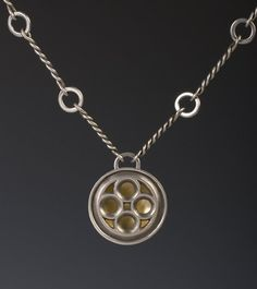 Donna Veverka jewelry, Round Tracery, twisted wire link chain
