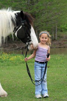 Little Girl's Gypsy Horse