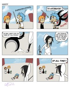 An absolutely ridiculous Bleach comic - But, yes, that fight was awesome.