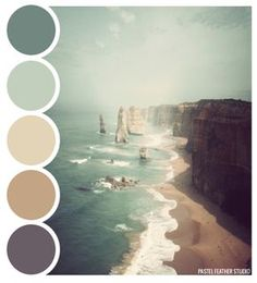 Pastel Feather Studio: BEACH PALETTE - color palette ►more find here: pastefeatherstudi. Pastel Feather Studio: BEACH PALETTE - color palette ►more find here: pastefeatherstudi. Paint Schemes, Colour Schemes, Color Combos, Colour Combinations Interior, Beach Color Schemes, Wall Colors, House Colors, Colours, Beach Paint Colors