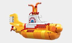 """legollection: """"We all live in a Yellow Submarine! LEGO launches Beatles' Yellow Submarine part I """" Now that's cool! Lego Submarine, Yellow Submarine, George Harrison, Ticket To Ride, Photoshop, Lego News, The Fab Four, Sea Monsters, Legoland"""