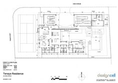 First Floor Plan Picture for Contemporary and Luxury Tenaya Residence in Las Vegas Design by DesignCell