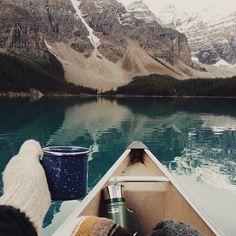 Kayaking n drinking coffee. Great !!!!