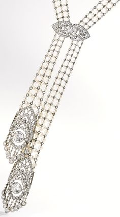 Edwardian seed pearl and diamond sautoir, J. - Diamonds in the Library Edwardian seed pearl and diamond sautoir, J. Circa Via Diamonds in the Library. Edwardian Jewelry, Antique Jewelry, Vintage Jewelry, Edwardian Fashion, Pear Shaped Diamond, Diamond Cuts, Pearl Jewelry, Fine Jewelry, Wedding Jewelry