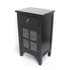 Wooden Cabinet with 1 Drawer and 1 Door