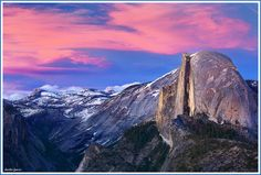 Glacier Point, Yosemite, CA by Dmitri Fomin: Located on the south wall of Yosemite Valley, at an elevation of 7,214', the point is accessible by road or trail and offers an inspiring view of Yosemite Valley, including Yosemite Falls, Half Dome, Vernal Fall, Nevada Fall, and Clouds Rest. http://en.wikipedia.org/wiki/Glacier_Point #Yosemite
