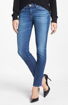 Love love the wash of these skinny's.  Women's AG 'Stilt' Cigarette Leg Jeans (Eleven Year Journey)