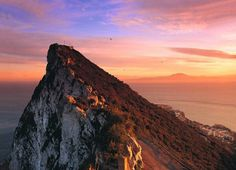 Rock of Gibraltar, the view looks across to North Africa away). Oh The Places You'll Go, Great Places, Places Ive Been, Beautiful Places, Places To Visit, Beautiful Sky, Rock Of Gibraltar, Rivers And Roads, Nerja
