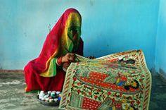 Madhubani painting in Bihar-India Stock Images