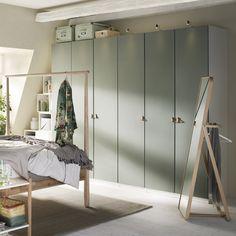 Ikea organization kids parents Ideas for 2019 Bedroom Built In Wardrobe, Ikea Pax Wardrobe, Ikea Closet, Wardrobe Ideas, Bedroom Green, Modern Bedroom, Wardrobe With Dressing Table, Armoire Design, Bedroom Furniture Design