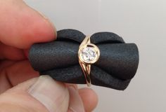 New Rose - Diamond Ring    Rose gold ring set with a .60ct diamond.