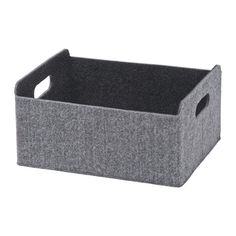 BESTÅ Låda, grå grå 25x31x15 cm