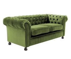 Sofá de 3 plazas en madera de haya Chester - verde oliva