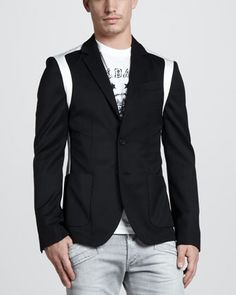 Colorblock Blazer by Pierre Balmain at Neiman Marcus.