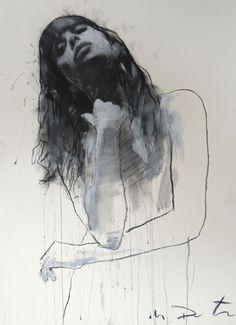 Mark Demsteader, pastel and collage portrait drawing Mark Demsteader, Sketch Painting, Figure Painting, Figure Drawing, Life Drawing, Drawing Sketches, Art Drawings, Illustrations, Illustration Art