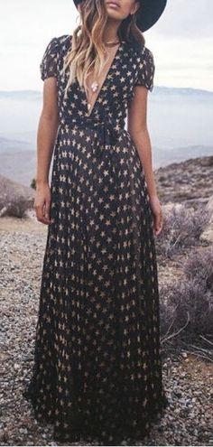 star print maxi dress