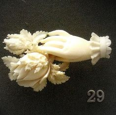 British Museum- Carved ivory brooch