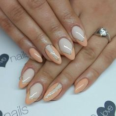 SPN UV LaQ 578 Creame Puff! 623 Apricot Mousse, 628 Golden Eye. Nails by Alicja Koziolek #spnnails #uvlaq #uvgel #paznokcie #nails