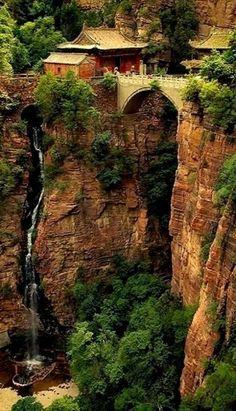 Cangyan Shan Falls, Outside of Shijiazhuang, Hebei, China