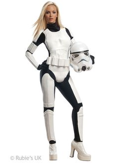 Adult Womens Star Wars Stormtrooper Costume in Clothes 9fb87ba3ca981