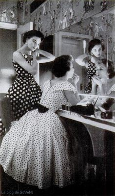 Polka Dots! Polka Dots!  Life Magazine 1954  What a great photograph.