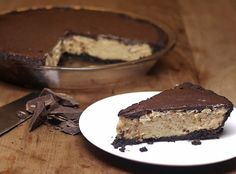 Frozen Peanut Butter Chocolate Pie - Low Carb, Gluten Free, Dairy Free, Sugar Free, Paleo