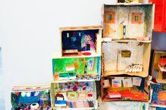 Casa modular con cajas de carton Modular Homes, Carton Box, Crates