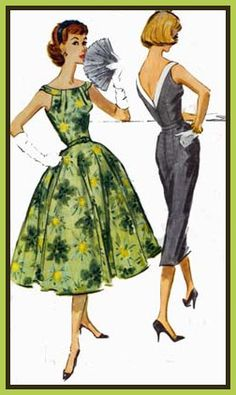1957 McCalls Vintage Sewing Pattern for 50s dresses