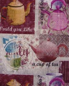 Υφάσματα Επιπλώσεων (Κουρτίνες – μαξιλαροθήκες) ni-147 Tea, Painting, High Tea, Painting Art, Paintings, Teas