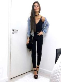 Fashion outfits, night outfits и fiesta outfit. Boho Outfits, Neue Outfits, Woman Outfits, Dress Outfits, Casual Outfits, Black Outfits, Casual Party Outfit Night, Casual Festival Outfit, Winter Date Night Outfits