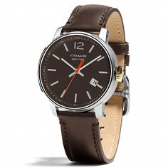 BLEECKER STAINLESS STEEL THREE HAND STRAP WATCH