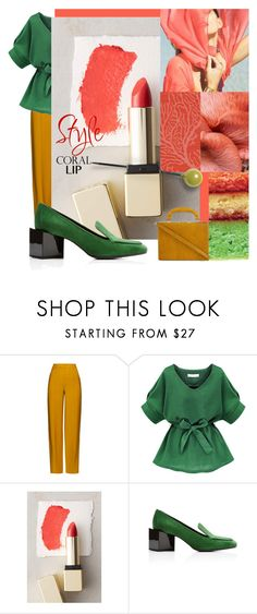 """""""Spring Beauty: Corals"""" by alevalepra ❤ liked on Polyvore featuring beauty, ADAM, Sunday Riley, Pierre Hardy, Bertoni and coolcorals"""