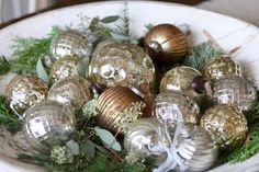 We're kicking off the season with a French Christmas tour! Combining neutrals with some metallics for sparkle, we set a casual chic tone for the holidays. French Christmas Decor, Simple Christmas, Winter Christmas, All Things Christmas, Christmas Home, Christmas Bulbs, Merry Christmas, Christmas Ideas, Holiday Ideas