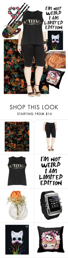 """""""Teenage Mutant Ninja Turtles OC Outfit, Tina's Chill-laxing"""""""" by tina-cappuccino92 ❤ liked on Polyvore featuring Liberty Art Fabrics, City Chic, Carmakoma and Cultural Intrigue"""